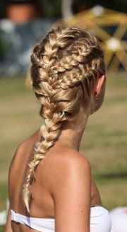 whimsical braids long haired