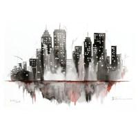 Watercolor Painting Original New York Cityscape | | Arte ...