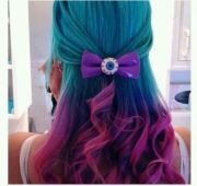 blue-purple-pink ombre hair geeky