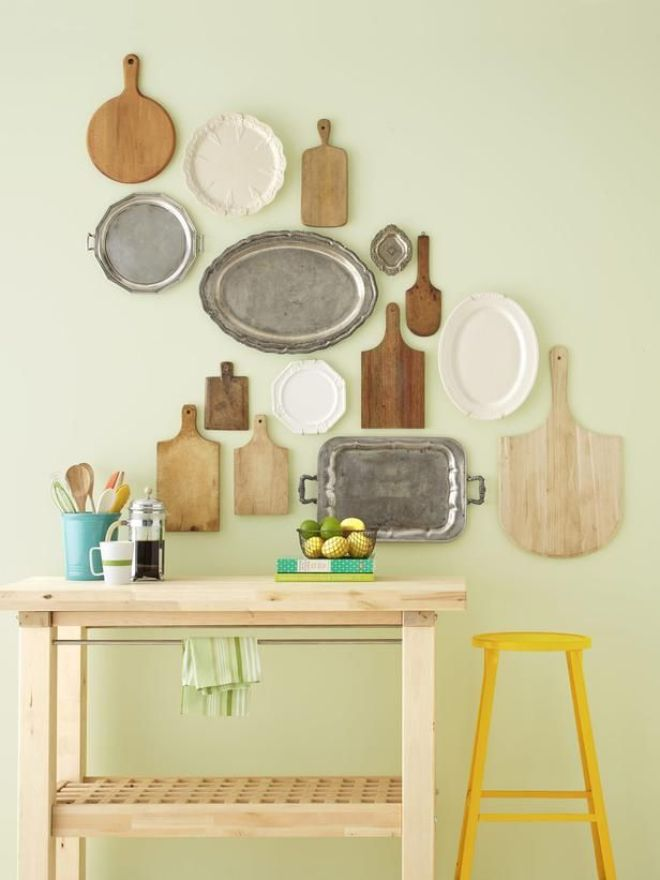 Shop SVdP's housewares section for decorating projects - Platters and Cutting Boards - 7 Ways to Fill Up Your Walls on HGTV