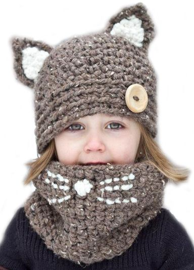 Kitty Hat and Cowl Set – love this!