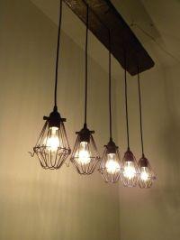5 Bulb Reclaimed Wood Chandelier Industrial Rustic Ceiling ...