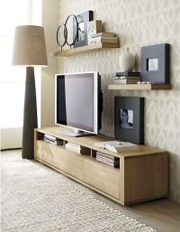 "Under 18"": 10 Ultra-Low TV Consoles | Dark brown, Tv walls ..."