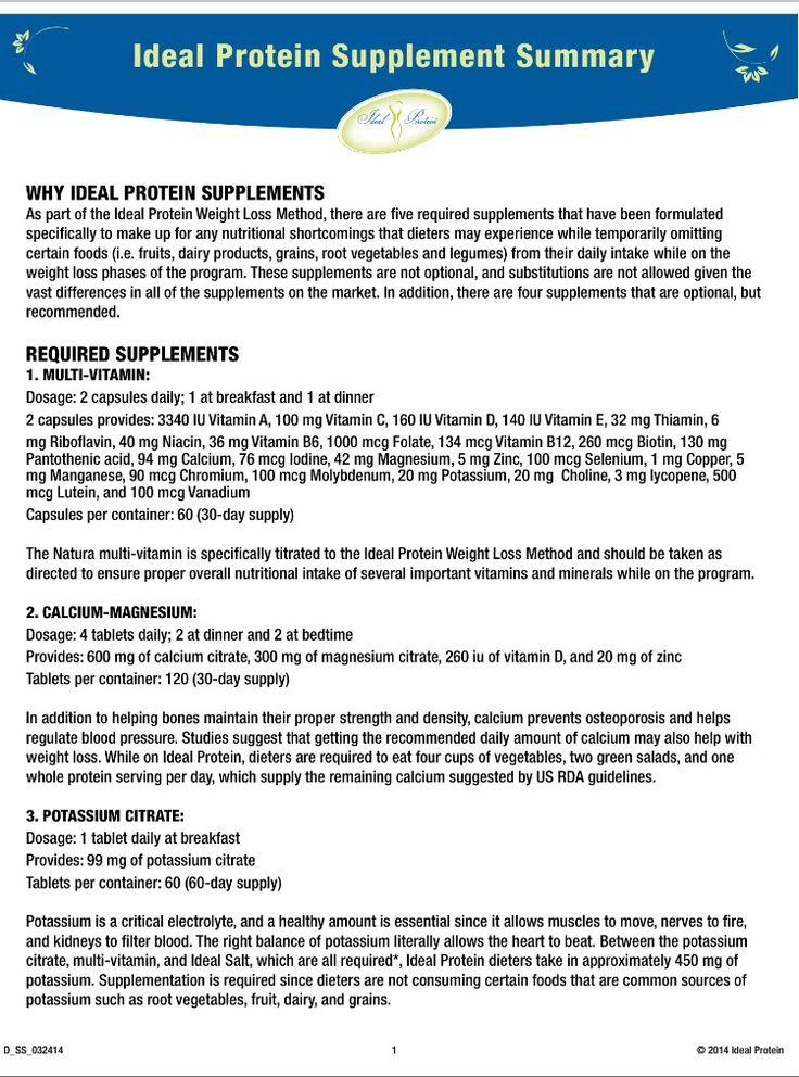 Ideal protein supplements pg 1  Ideal protein diet