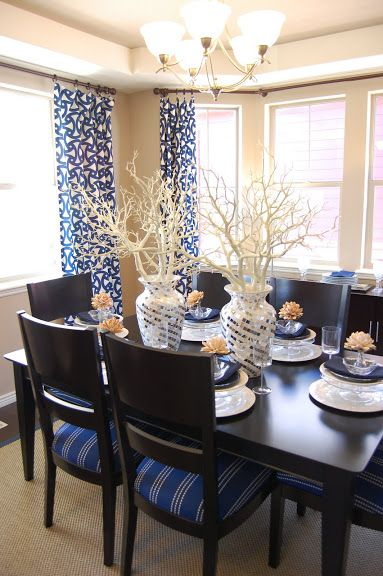 1000 images about Navy dining room on Pinterest  Tan