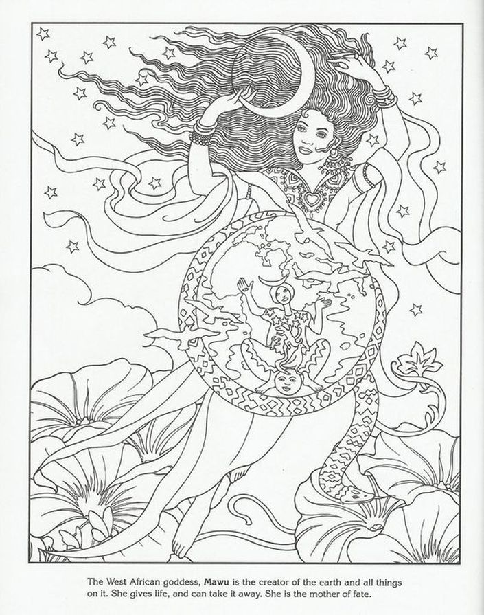 best images about goddess coloring pages for adults on