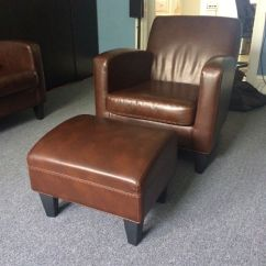 Brown Leather Studded Sofa Large Corner Ikea Jappling Dark Sofa, Chair And Footstool ...