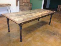 Reclaimed Pine Farm Table w/ Folding Legs for easy storage ...