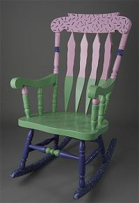 painted rocker | Crafty - Painted Furniture | Pinterest ...