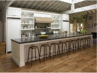 Now that is a long kitchen island.. What I need for my ...