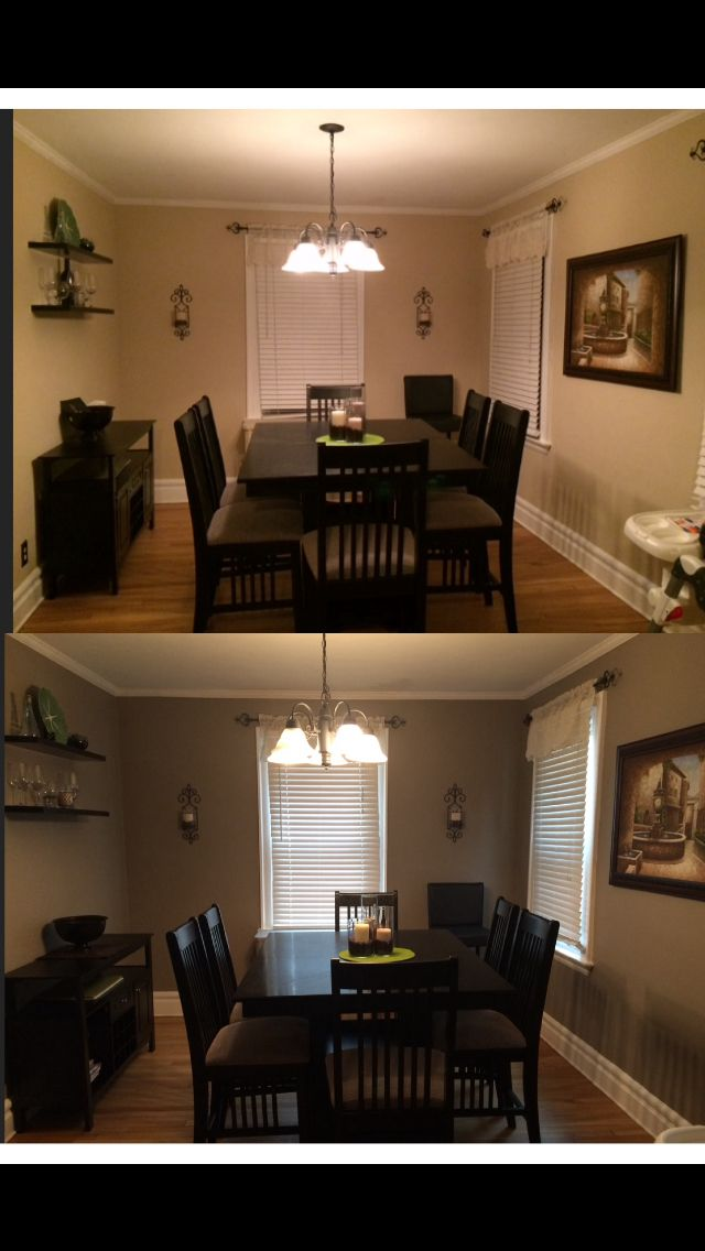 rustic paint colors for living rooms room ceramic tile $40 makeover my new dining color behr paint: ...