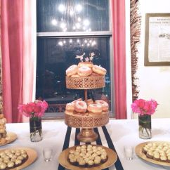 Wedding Chair Covers Sydney 48 Round Table 6 Chairs Fab 40th: Dessert Table, Donuts, Donut Tower, Black And White Stripes, Gold, Red, Pink | My ...