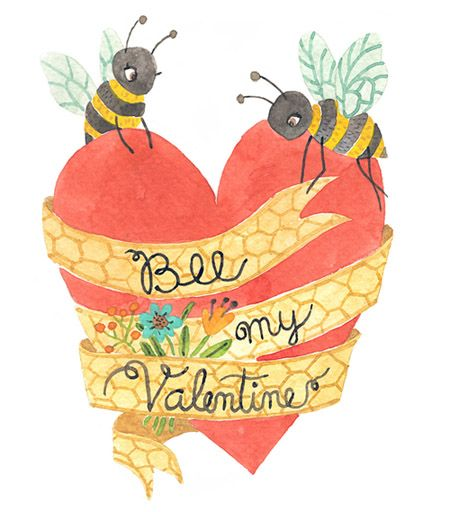 Bee My Valentine Free Printable Valentine Card From