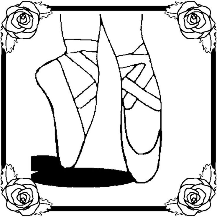 Princess Ballet Shoes Coloring Page Image Coloring Pages