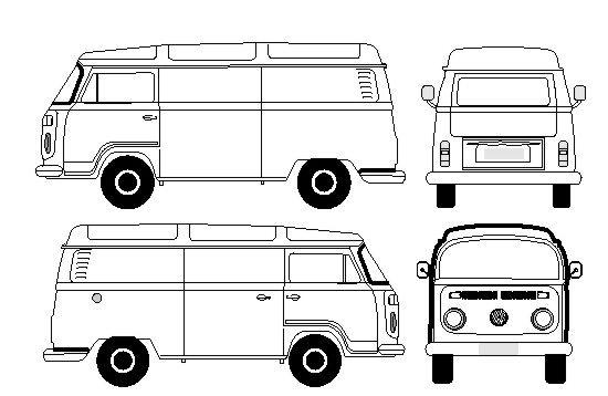 Vetor Kombi Combi Carro Vetorizado Corel Draw Giga Design