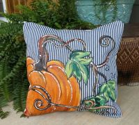 396 best painted Pillows and Floorcloths images on Pinterest