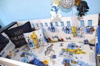 Custom unique Star Wars crib bedding bumper pottery barn ...