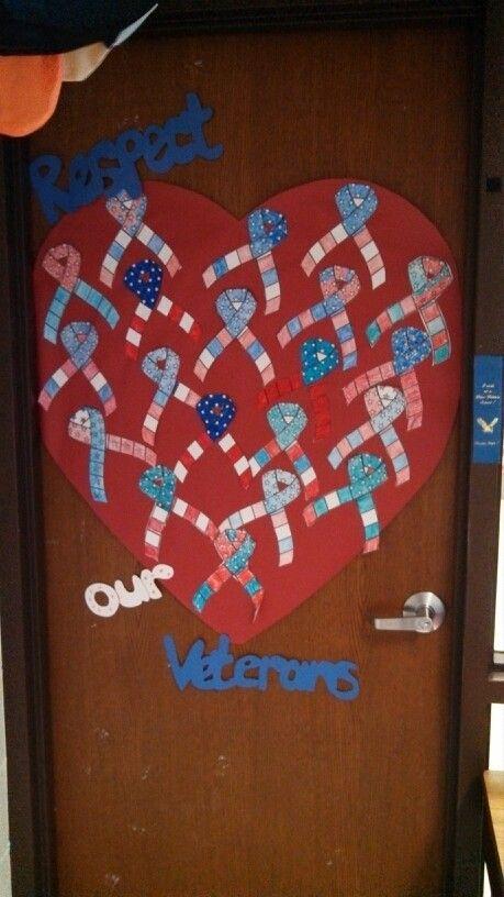 Veterans Day Classroom Door  Bulletin boardclassroom