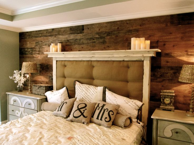Framed Padded Headboard With Ledge, Plank