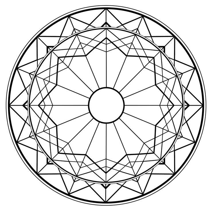 Geometric Mandala Drawing Sacred Circle Image