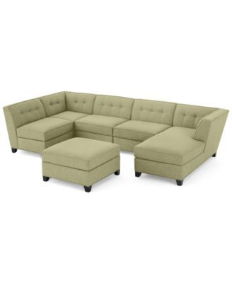 macy s orange sectional sofa london club harper fabric 6 piece modular chaise & ottoman ...