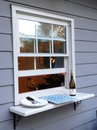 Deck window shelf. Easy pass thru to the outside from ...