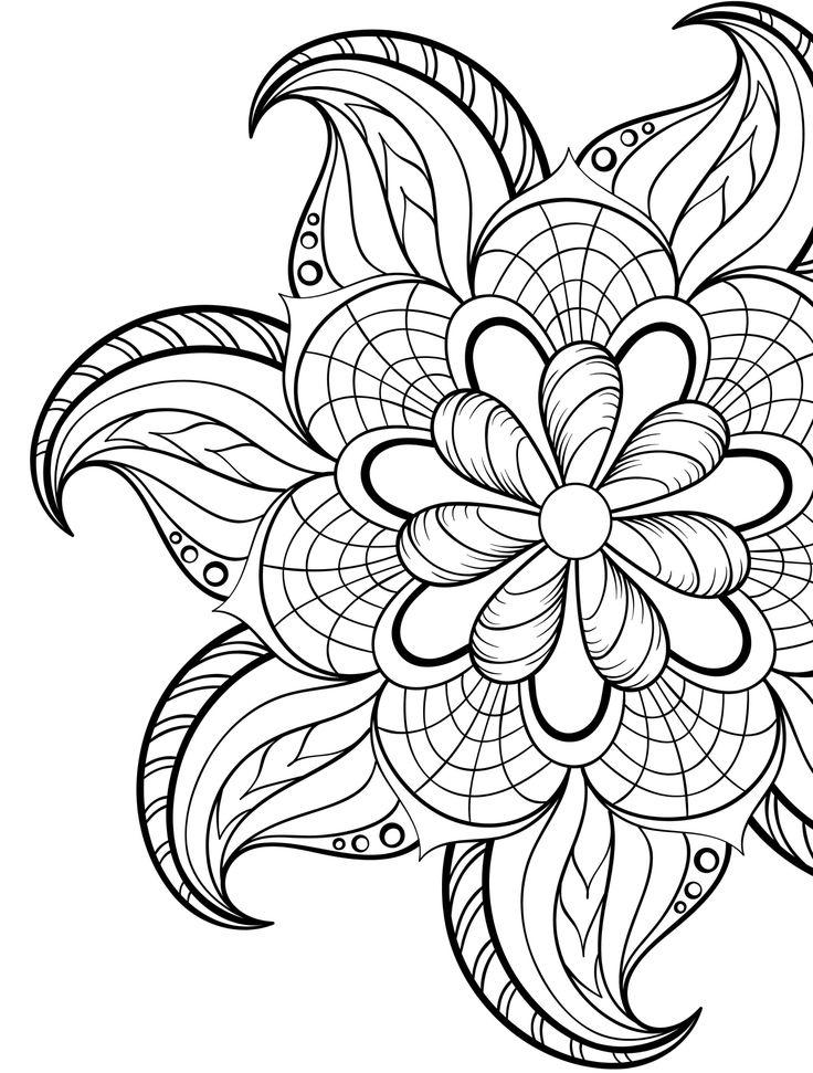 25+ bästa idéerna om Adult Coloring Pages på Pinterest ... | free online coloring pages for adults easy