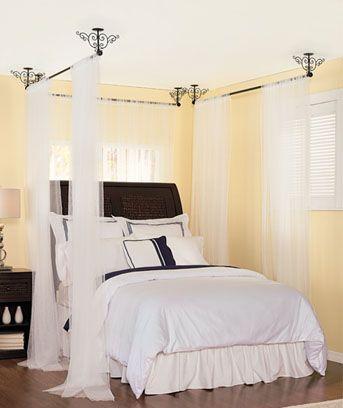 25 Best Ideas About Curtain Rod Canopy On Pinterest Kids