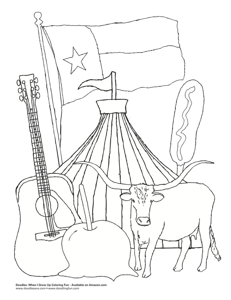 17 Best images about Texas Coloring Book on Pinterest