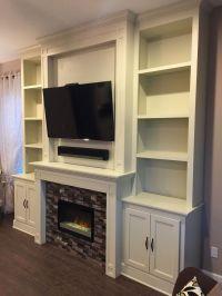 Custom fireplace, electric fireplace, tile surround, built