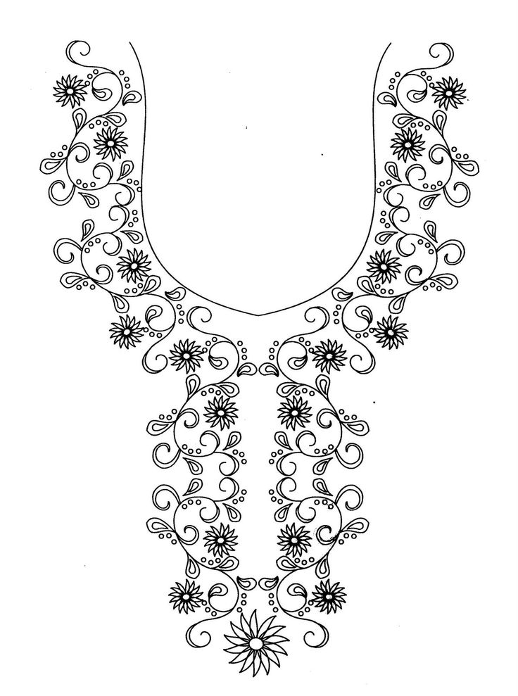 Neck Patterns For Kurtis With Lace