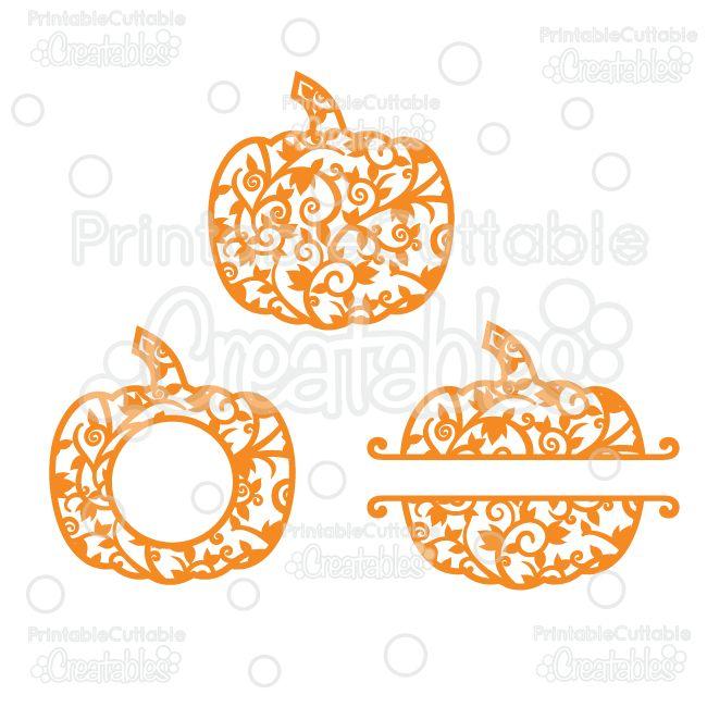 whole split monogram frame flourish pumpkins free svg cut files