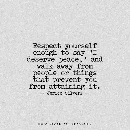 25+ best ideas about Respect Yourself on Pinterest