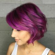 short purple hair ideas