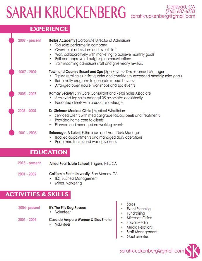 sample resume medical esthetician  httpresumesdesign