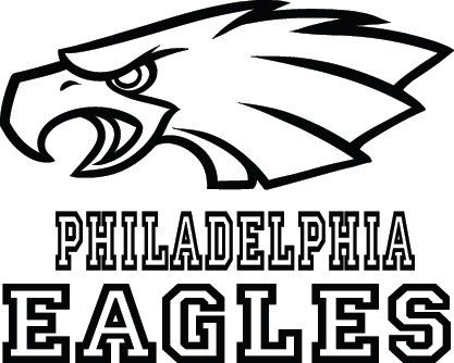 Philadelphia Eagles Football Logo & Name Custom by