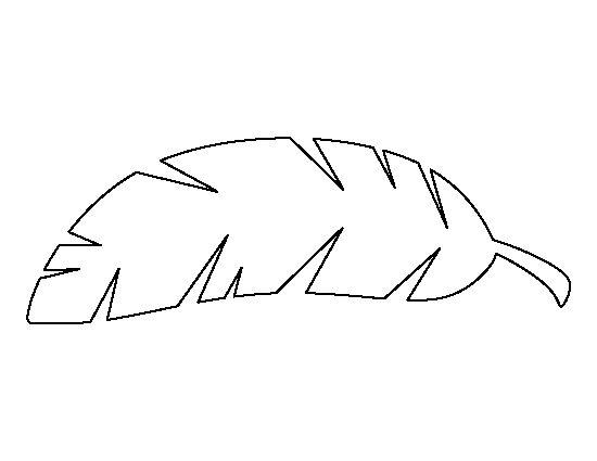 Banana leaf pattern. Use the printable outline for crafts