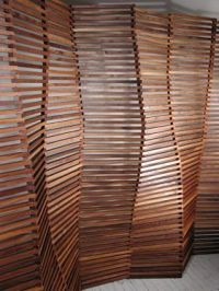Slated Wood Wall Screen Design | @Seeyond: Architectural ...