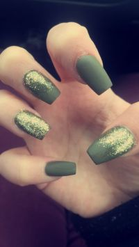 1000+ images about Olive Green Nails on Pinterest | Coffin ...