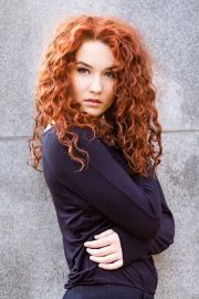 curly perms hair makeup