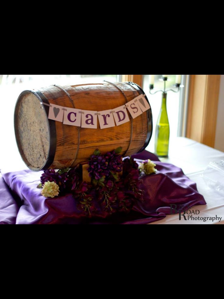 Wine barrel card holder  My Italian Winery Wedding Ideas  Pinterest  Love this Wine barrels