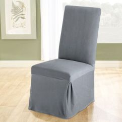 Office Chair Covers Target Rental For Sale Stretch Pique Dining Slipcover | Living-dining Room In Silver-grey, Blue, And Green ...
