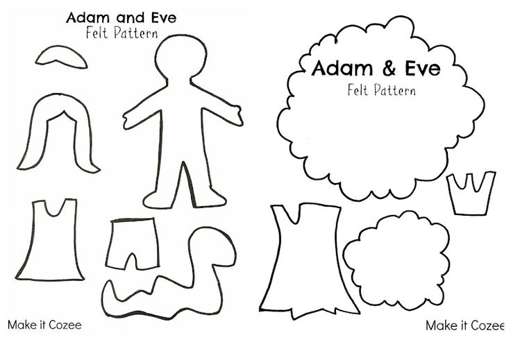 Make it Cozee: Adam and Eve Felt Story [Free Pattern