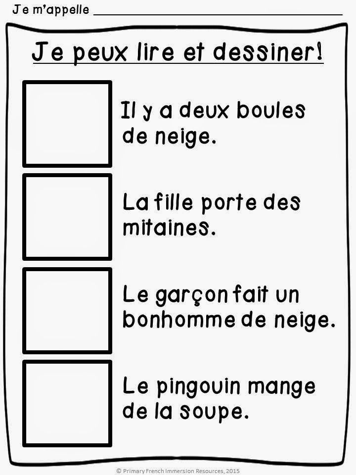 Primary French Immersion Resources: Assessment in Grade 1
