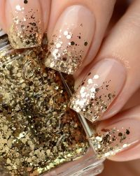 25+ best ideas about Gold tip nails on Pinterest