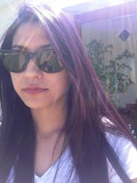Manic Panic- Ultra Violet on dark hair | Colored Hair ...