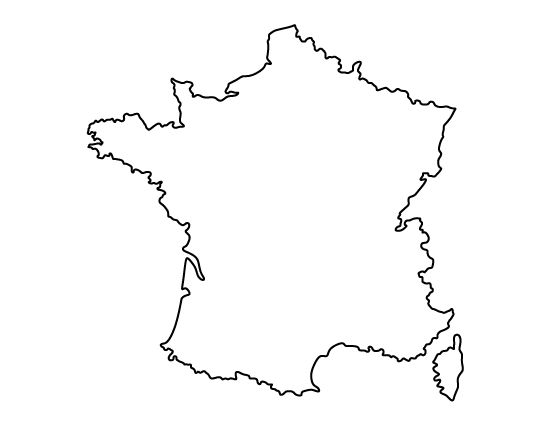 France pattern. Use the printable outline for crafts