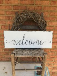 25+ best ideas about Welcome Home Signs on Pinterest   Diy ...