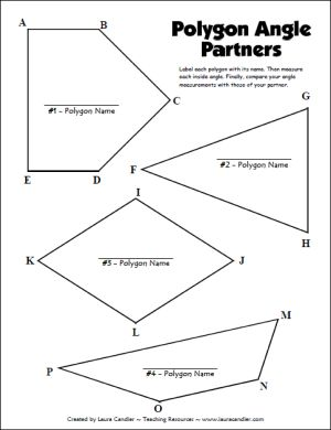 Polygon Angle Partners freebie in Laura Candler's geometry