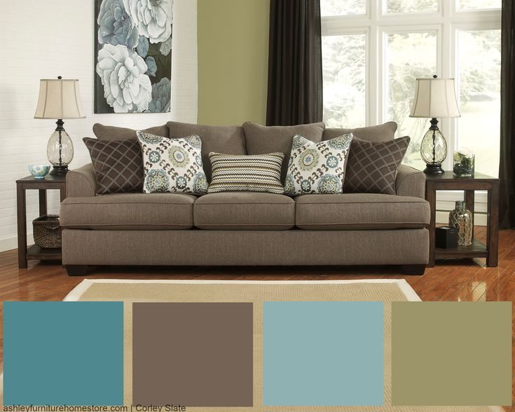 color schemes for living room with brown couch yellow and black ideas love our corley slate sofa? get this look by accenting ...